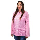 Desco 74212 Statshield® Static Dissipative Jacket with Snap Cuffs, Pink, Medium