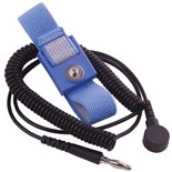 Transforming Technologies WB1637 Wrist Strap with 4mm Snap, Alligator Clip and 6' Cord