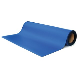 """Transforming Technologies MT4524RB 2 Layer Rubber ESD-Safe Table Mat Roll, Royal Blue, 24"""" x 50'"""