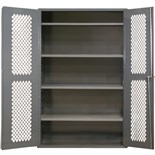 "Durham MFG EMDC-361848-95 Heavy Duty Mesh Storage Cabinet 14 Gauge Steel with 2 Shelves, 36"" x 18"" x 48"""