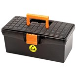 "Botron B0948 ESD-Safe Tool Box with Lift-Out Tray, 13.7"" L x 7.08"" W x 5.9"" H"