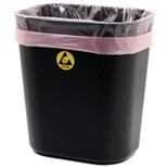 Botron B17157 Small ESD-Safe Conductive Plastic Trash Can, 4.22 Gallon