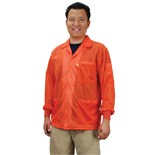 Desco 73913 Statshield® Static Dissipative Jacket with Knit Cuffs, Orange, Large