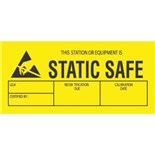 "Transforming Technologies LB9070 This Station or Equiptment is Static Safe Labels, 1-3/4"" x 3"", 500/Roll"