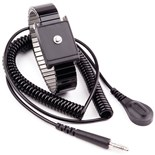 Transforming Technologies WB6037 Metal Wrist Strap with 4mm Snap, Alligator Clip and 6' Cord