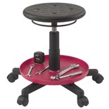"Bevco V3081P Maintenance Repair Stool, Seat Adjustable 16-1/2"" - 20-1/2"""