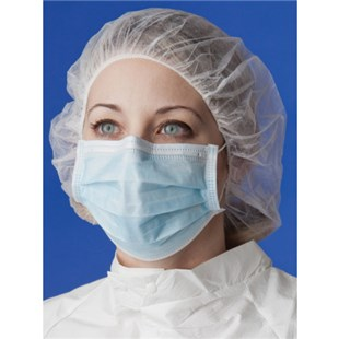 XtraClean XC3000-5B Cleanroom Face Masks with Earloops, Blue, 500/Case