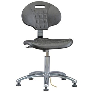 """Bevco 7050E Everlast Series Industrial ESD-Safe Polyurethane Chair with Aluminum Base, 14-1/2"""" - 19-1/2"""""""