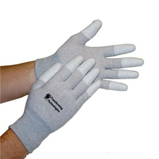 Transforming Technologies GL4503T ESD Safe Gloves with Coated Finger Tips, Medium, 12 Pair/Pkg