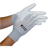 Transforming Technologies GL4504P ESD Safe Gloves with Coated Palms, Large, Pair