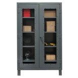 "Durham MFG HDCC244878-4S95 Clearview Storage Cabinet, 12 Gauge Steel with 4 Shelves, 48"" x 24"" x 78"""