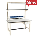 "Proline BIB1 Heavy Duty Workstation Kit with Standard Top, 60"" L x 30"" D x 30"" to 36"" Adjustable Height"