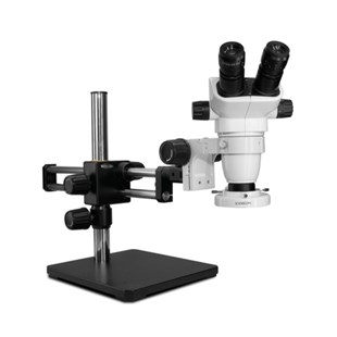 Scienscope SZ-PK5D-E1 Binocular Microscope Includes Compact LED Ringlight and Dual Arm Boom stand