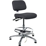"Bevco 8351 ESD-Safe Industrial Chair with Tilt Control, Black, 19"" - 26-1/2"""