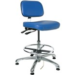 "Bevco 8351 Doral Series ESD-Safe Industrial Chair with Tilt Control, Blue Vinyl, 19"" - 26-1/2"""