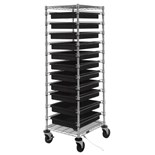 """Quantum Storage Systems BC212469M2CO ESD-Safe Mobile Tote Cart with Eleven Conductive Totes, Cart Size: 21"""" x 24"""" x 69"""""""