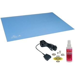 "Desco 66323 Statfree UC2™ Dissipative 2-Layer Ultra Clean Rubber Table Mat, 24"" x 48"" x .080"""