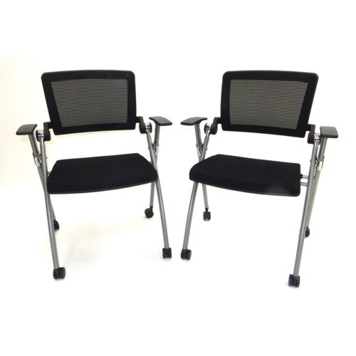 ShopSol 1010274 Nest And Fold Office Chairs, 2/Pkg