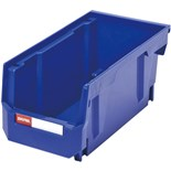 "Shuter 1010002 Ultra Storage Nest and Stack Parts Bins, Blue, 5.5"" x 10.9"" x 5"", 5/Pkg"
