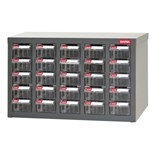 Shuter 1010012 Heavy Duty Steel Parts Cabinet with 25 Drawers