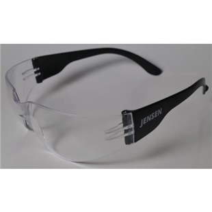 Jensen Tools 484-499 Safety Glasses with Clear Anti-Scratch Lens