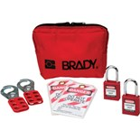 Brady 105969 Personal Padlock Pouch Kit w/Keyed-Alike Safety Padlocks