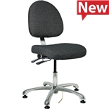 "Bevco 9051M-E Integra Series Ergonomic Static-Safe Chair w/Tilt Seat and Medium Back, Gray Fabric, 15-1/2"" - 21"""