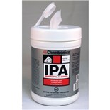 Chemtronics SIP91P IPA Presaturated Wipes, 91% IPA and 9% Deionized Water, 100 Wipes/Tub