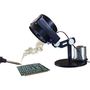 Edsyn FXF11-PROMO Static-Safe FUMINATOR® Bench Top Fume Extractor with Task Light and Solder Spool Holder (solder not included) And FREE Filter!