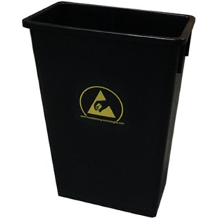 Transforming Technologies WBAS90 ESD Safe Trash Waste Can, 22 Gallons