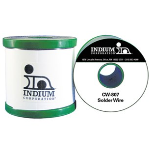 Indium IND-52915-0454 CW-807 SAC305 No-Clean Flux-Cored Wire Solder, 0.020""