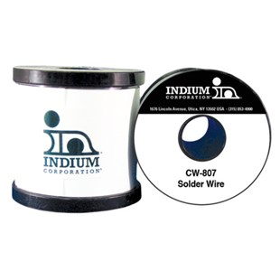 Indium IND-52917-0113 CW-807 Sn63/Pb37 No-Clean Flux-Cored Wire Solder, 0.010""