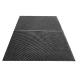 "Desco 40936 Statfree I Ergonomic Conductive Black Floor Mat Runner, 0.625"" x 3' x 5'"