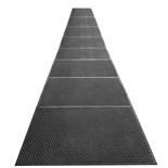 "Desco 40938 Statfree I Ergonomic Conductive Black Floor Mat Runner, 0.625"" x 3' x 20'"