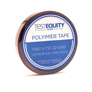 """TestEquity TST22-0500 Polyimide Film Tape with Silicone Adhesive 1/2"""" x 36 Yards"""