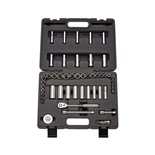 """Wright Tool A29 Cougar Pro 1/4"""" Drive 6-Point Standard and Deep SAE and Metric (46 Piece)"""