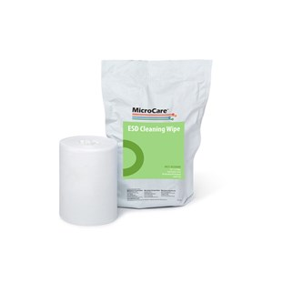 """MicroCare MCC-EC00WR ESD-Safe Presaturated Cleaning Wipes, 8"""" x 5"""", 100/Refill Pkg"""