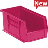 "Quantum Storage Systems QUS230PK Stack and Hang Bins, Pink, OD 10-7/8"" x 5-1/2"" x 5"", 12/Case"