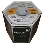 Kester 2463370027 Solder Wire, Rosin Core, Leaded, Sn63Pb37, 3.3%, 0.031 in (0.80 mm), 44 Series