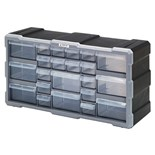 "Quantum Storage Systems PDC22BK Plastic Parts Drawer Cabinet with 22 Drawers, OD 6-1/4"" x 19-1/2"" x 10"""