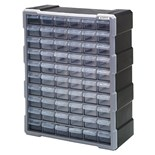 "Quantum Storage Systems PDC60BK Plastic Parts Drawer Cabinet with 60 Drawers, OD 6-1/4"" x 15"" x 18-3/4"""