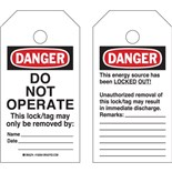 "Brady 150504 RipTag™ Safety Tag, 3"" W x 5.75"" H, 250/Roll"