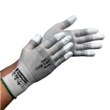 Transforming Technologies GL2502T StaticCare™ ESD-Safe Cut Resistant Gloves, Coated Finger Tips, Small, 12 Pairs/Pkg