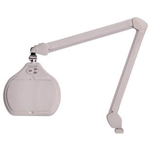 "O.C. White ALREC-45-W Accu-Lite™ 6.85"" Rectangle LED Magnifier; 3.5 Diopter (1.88x); ESD Coating and Free 10-Diopter Lens"