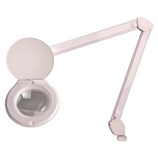 "O.C. White ALRO5-45-5D-W Accu-Lite™ 5"" Round LED Magnifier; 5 Diopter (2.25x) with Free 10-Diopter Lens"