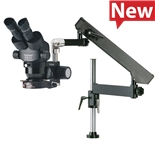 O.C. White TKPZE-FA-LV2 ProZoom® 4.5 Extended Working Distance Microscope with Articulating Arm Base,  ESD Safe Standard; LED Ring Light