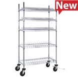 "Quantum Storage Systems WRC-R264C Reel Shelving Unit for 7"" and 10"" Reels, 18"" x 36"" x 69"""