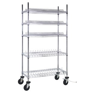 """Quantum Storage Systems WRC-R264C ESD-Safe Reel Shelving Unit for 7"""" and 10"""" Reels, 18"""" x 36"""" x 69"""""""