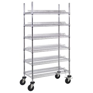 "Quantum Storage Systems WRC-R468C ESD-Safe Reel Shelving Unit for 7"" Reels, 18"" x 36"" x 69"""