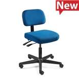 "Bevco 5001-F-3850S/5 Fabric Chair, Articulating Tilt, Black Nylon Base, HF Casters, Adj. Height 18""-23"", Doral Series"